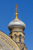 Bulbous spire of a catholic church in St. Petersburg Stock Photography