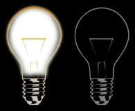 Bulbs. Light bulbs on dark background Stock Photo