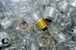 Bulbs. A close up of a bunch of tungsten bulbs lying on top of one another stock images