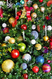 Bulbs on a Christmas Tree Royalty Free Stock Image