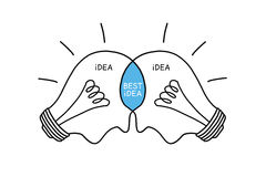 Bulbs Concept Best Idea royalty free illustration