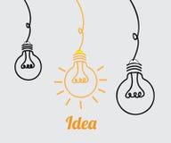 Bulbs design Stock Image