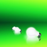 Bulbs on Green Royalty Free Stock Images