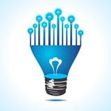 Bulbs on half bulb Stock Images