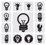 Bulbs icons Royalty Free Stock Image