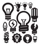 Bulbs icons Stock Image