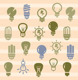 Bulbs icons Royalty Free Stock Photography