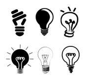 Bulbs icons Stock Photos