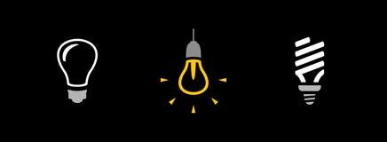 Bulbs icons Stock Photo