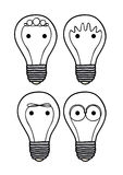 Bulbs icons Royalty Free Stock Photo