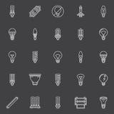 Bulbs icons set Royalty Free Stock Photos