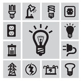 Bulbs icons Royalty Free Stock Images