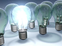 bulbs light Στοκ εικόνες με δικαίωμα ελεύθερης χρήσης