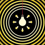 Bulbs light waves Royalty Free Stock Photos