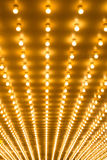 Bulbs marquee lights background Stock Images