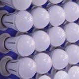 Bulbs. The ranks of modern light bulbs royalty free stock photo