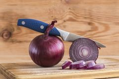 Bulbs of red onions Royalty Free Stock Photo