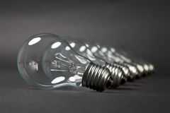 Bulbs In Row Royalty Free Stock Photography