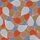 Bulbs Seamless colorful ornamental pattern Royalty Free Stock Photography