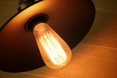 A bulbs that shines in the studio. Royalty Free Stock Photos