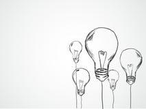 Bulbs Sketch Vector. Vector Art Stock Images