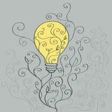 Bulbs - vine pattern Royalty Free Stock Photography