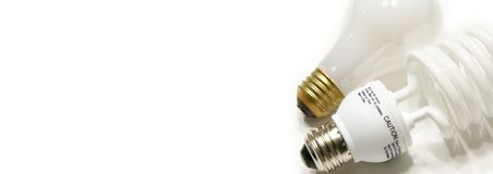 Bulbs Web Banner Stock Image