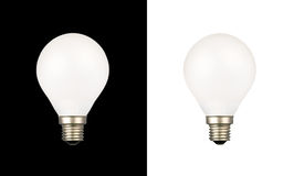 Bulbs on white and black backgrounds Royalty Free Stock Image