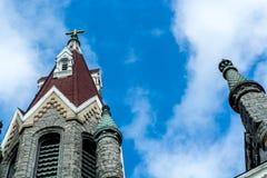 Bulding arkitektur för klosterbroder - kyrklig konst Arkivbilder