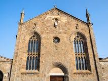 bulding de Sant Agostino Monastery em Bergamo imagens de stock