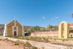 Bulding i dzwonnica Zlany Reformowany kościół w Zoar zdjęcie royalty free