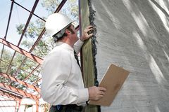 Bulding Inspection Incomplete Stock Photo
