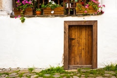 Bulding at the Rila Monastery. Old house door at the Rila Monastery in Bulgaria Stock Photography
