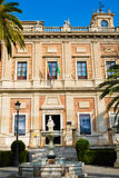 Bulding in Sevilla Lizenzfreies Stockbild