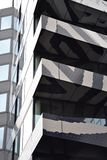 Bulding with zebra sample, Rotterdam. Zebra facade on one of the modern budildings in Rotterdam, Netherlands Royalty Free Stock Photo