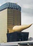 2 buldings Asahi против серого неба Стоковое фото RF