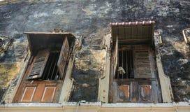 Buldings viejos en la poca India en George Town, Malasia Imagen de archivo