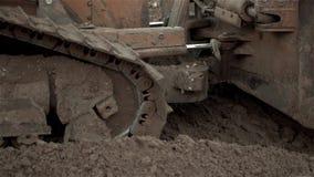 Buldożer Wworking, typ ładowacza buldożeru ekskawatoru maszyna Robi Earthmoving pracie zdjęcie wideo
