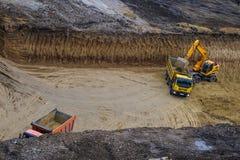 buldożeru ekskawatoru ciężarówki działanie Obraz Stock