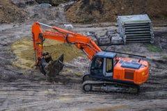 buldożeru ekskawatoru ciężarówki działanie Fotografia Royalty Free