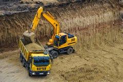 buldożeru ekskawatoru ciężarówki działanie Obraz Royalty Free