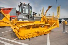 buldożeru oleju napędowy kolor żółty Zdjęcia Royalty Free