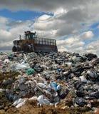 buldożeru usypu śmieci Obraz Stock