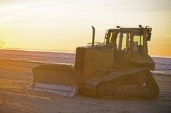 Buldozer à la plage Photos stock