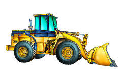 Buldozer-Illustrations-Farbkunst Stockfotos