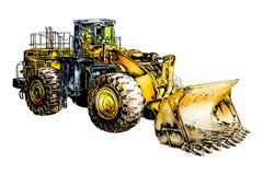 Buldozer-Illustrations-Farbkunst Lizenzfreies Stockfoto