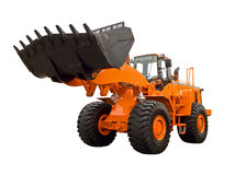 Buldozer orange images libres de droits