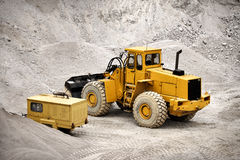 Buldozer in quarry Stock Photography