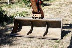 Buldozer's shovel Stock Photography