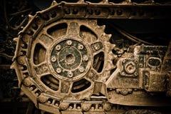 Buldozer wheel Stock Photography